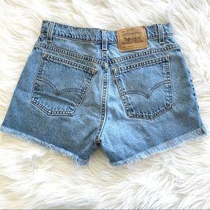 Vintage Orange Tab Levi's Cut Off Mom Jean Shorts